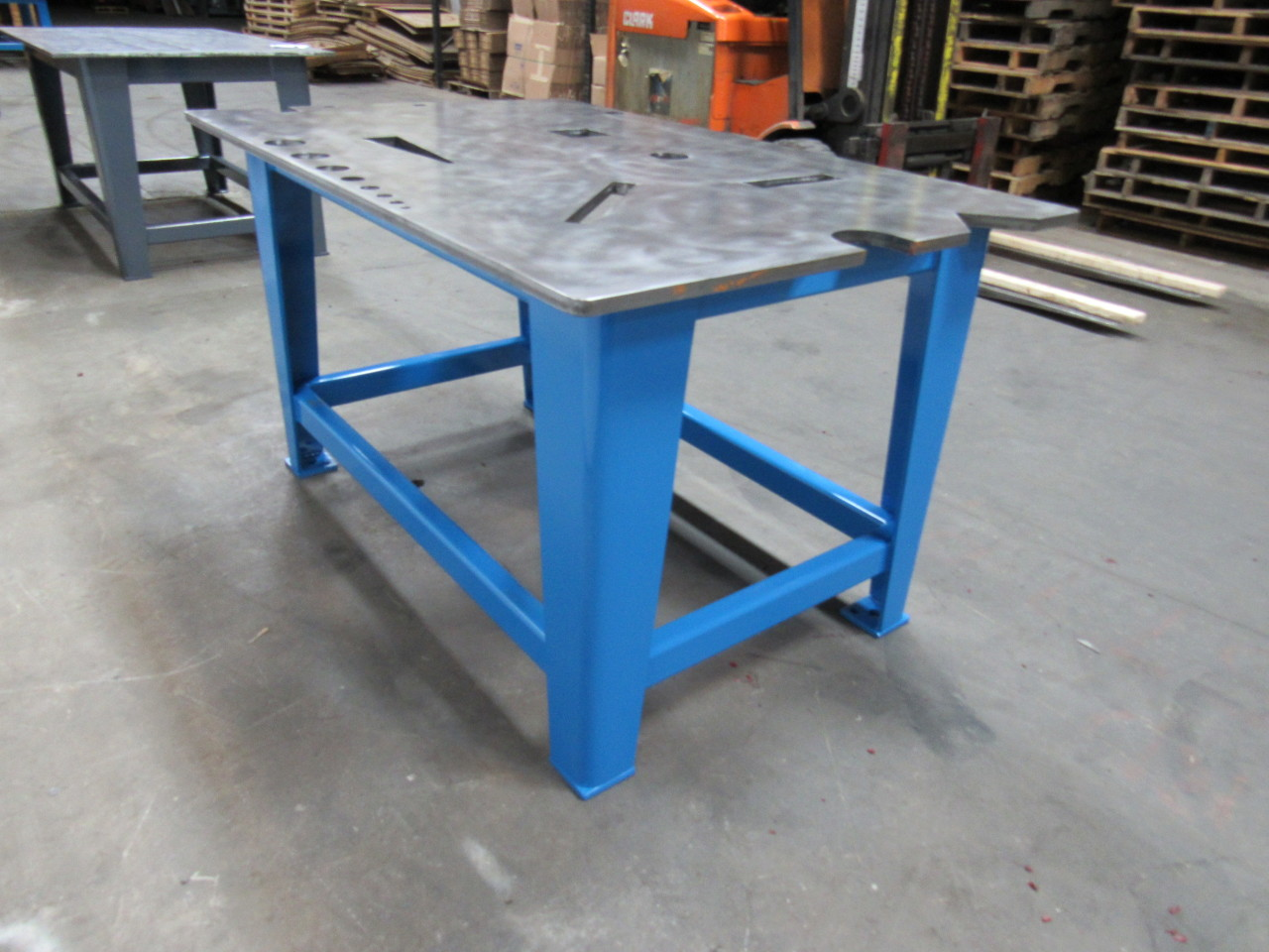 Steel Welding Work Bench Assembly Layout Table 39x60x33 3 4 Thick Top 824 Lb Ebay