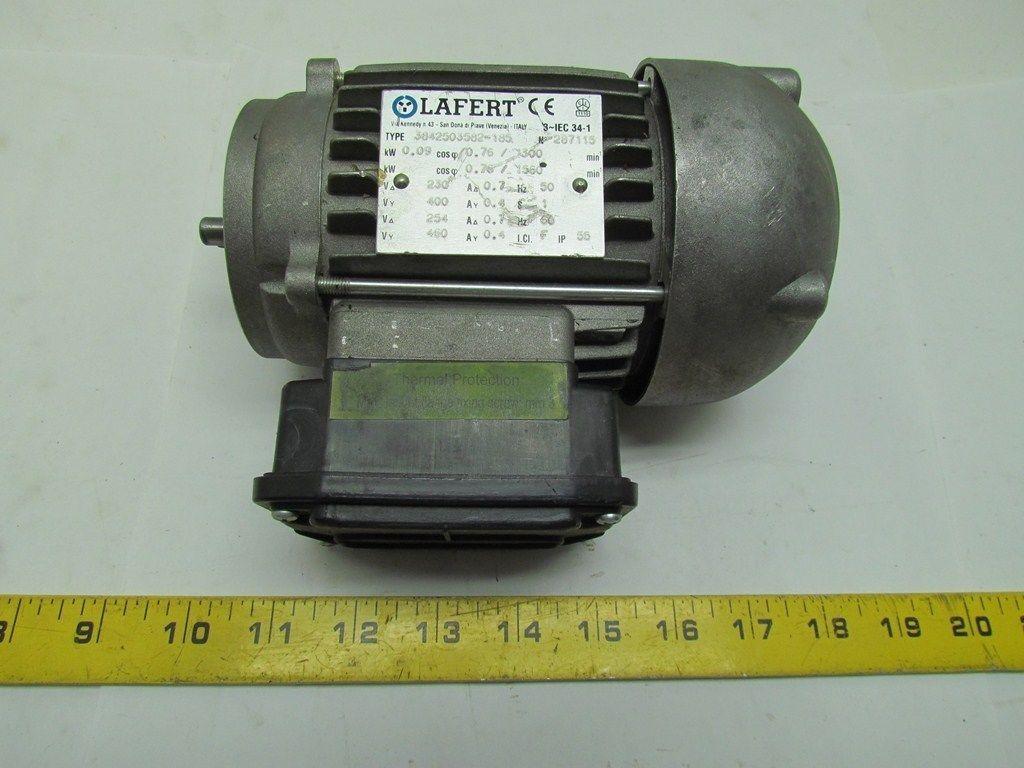 lafert 3842503582 185 1560 rpm 254 460volt 3ph motor iec
