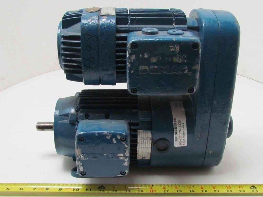 Demag Kba71 Hp 3 Ph 230 460 Volt Motor Gear Reducer 3 4 Shaft Ebay