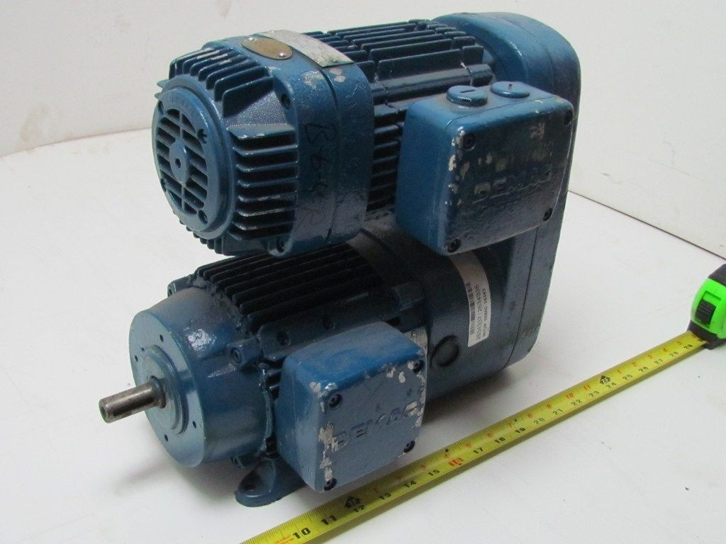 Demag kba71 hp 3 ph 230 460 volt motor gear reducer 3 for 3 4 shaft electric motor
