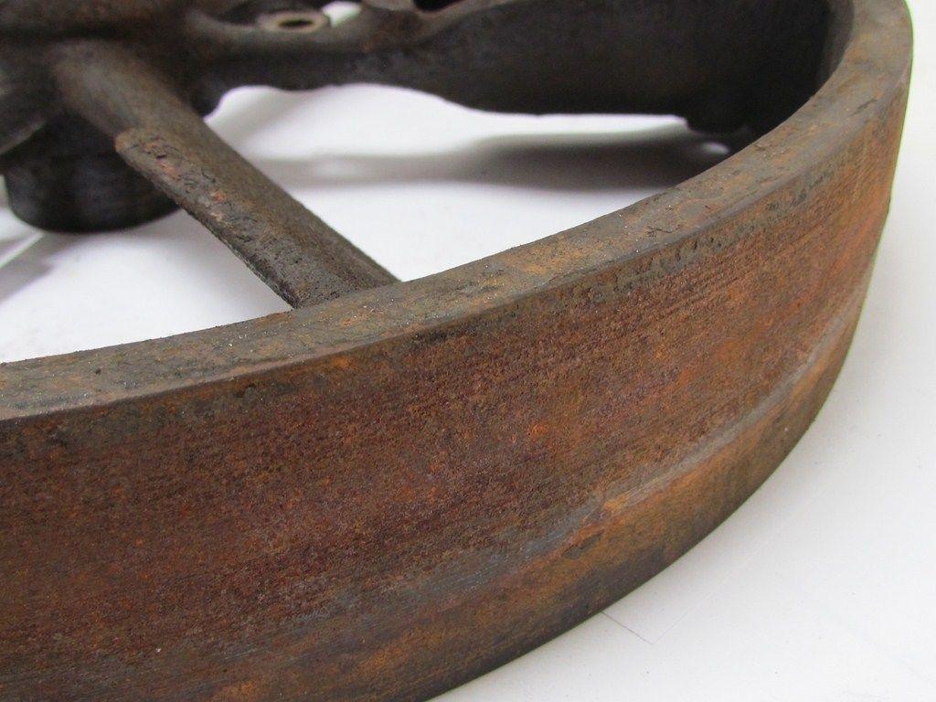 Antique Cast Iron Flywheels : Quot diameter vintage industrial cast iron flywheel