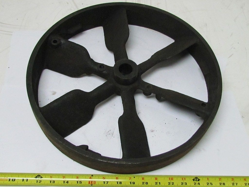 16 1 2 diameter vintage industrial cast iron flywheel for Uses for old pulleys