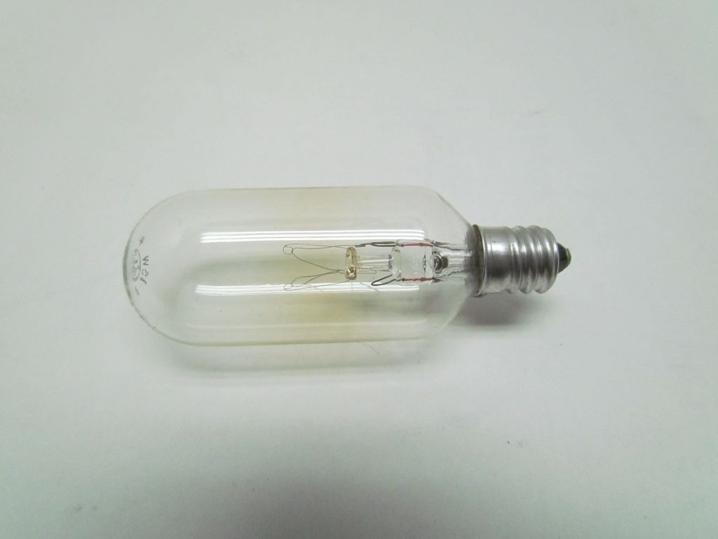 Ge general electric 15t8c 120 v volt 15 w watt light bulb bullseye industrial sales Light bulb wattage