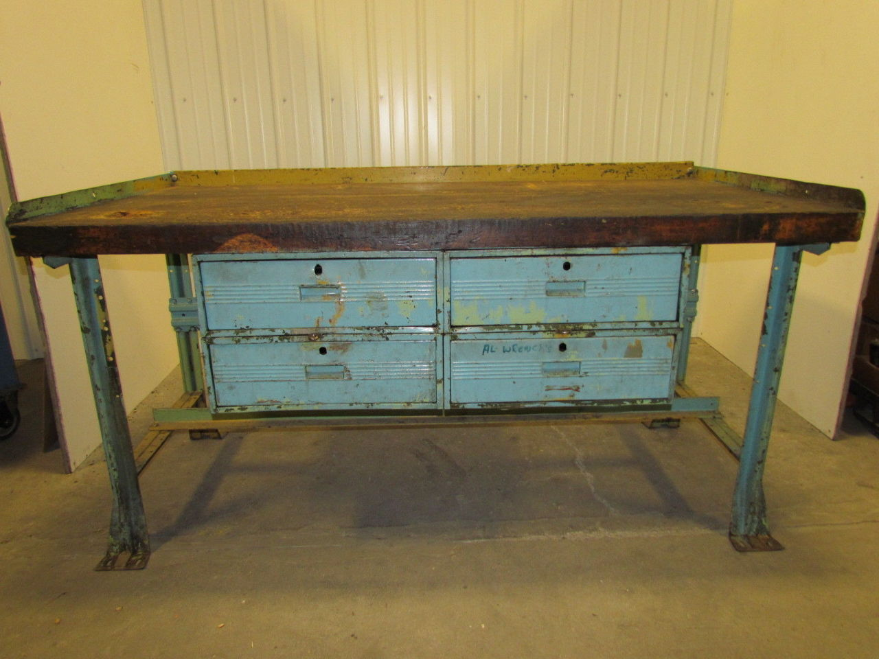 Vintage Industrial Workbench W 36 Quot X72 Quot Butcher Block 4 Drawer 36 Quot High