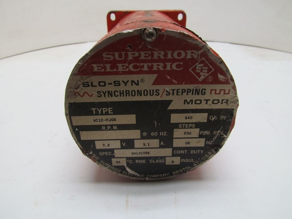 Superior Electric M112 Fjos Slo Syn Synchronous Stepping