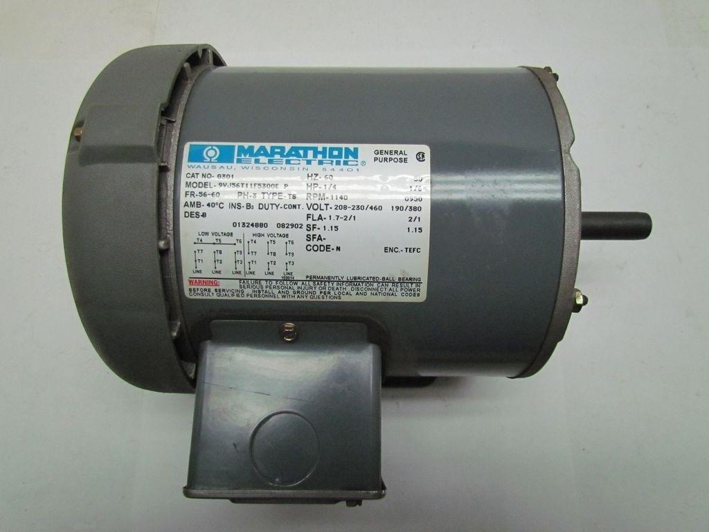 Marathon electric 9vj56t11f5300e p 1 4 hp 1140 950 rpm cat for 1 4 hp dc motor