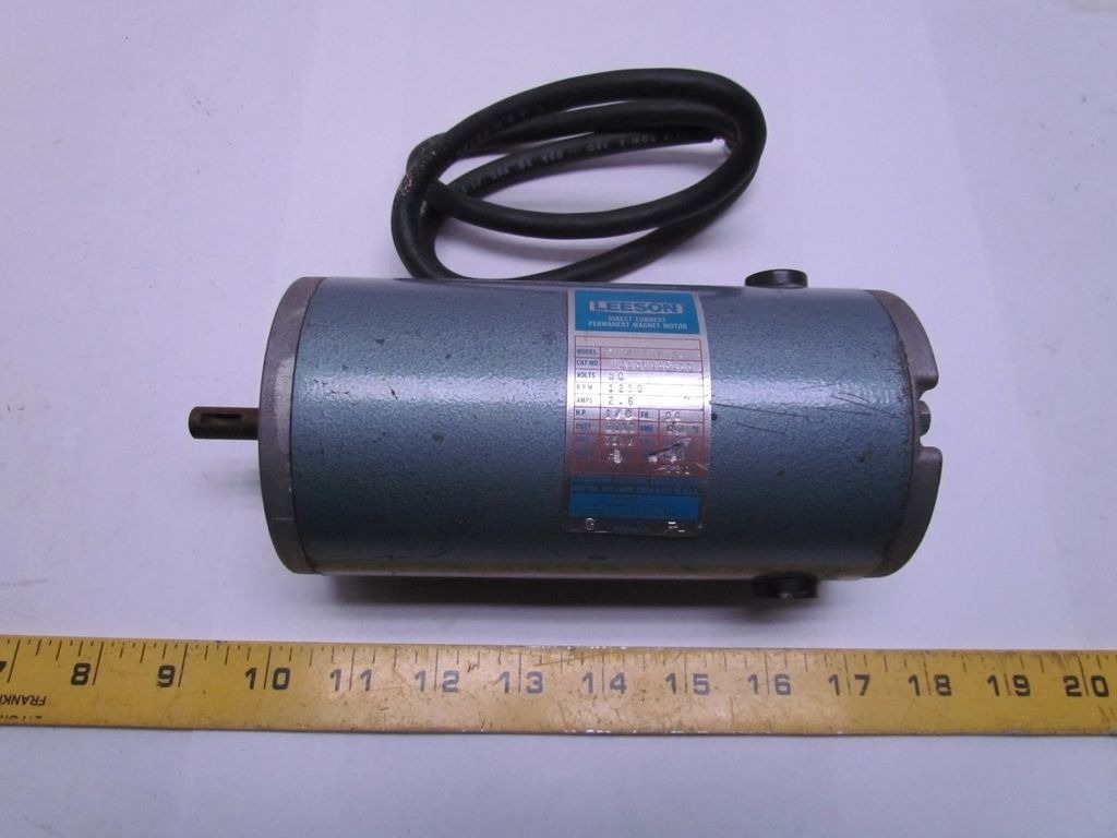 Leeson electric cm34d12nz1a direct current magnet motor 1 for 1 8 hp electric motor