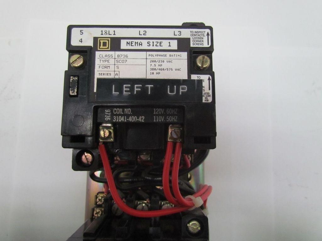 square d 8736sc07 nema size 1 reversing motor starter ser