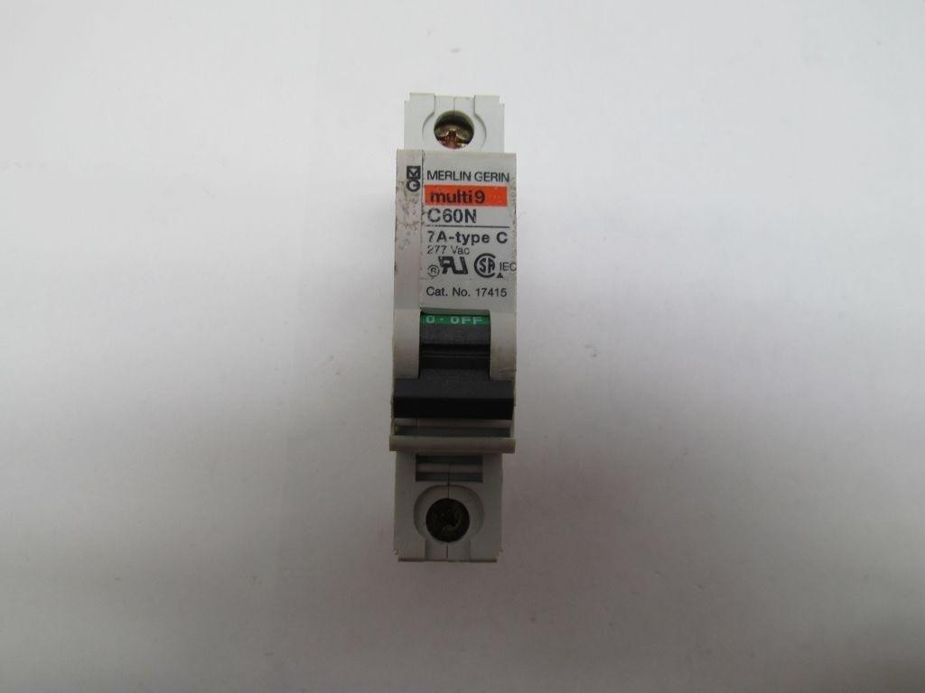 Merlin gerin multi 9 c60n 17415 7a type c circuit breaker - Merlin gerin multi 9 ...