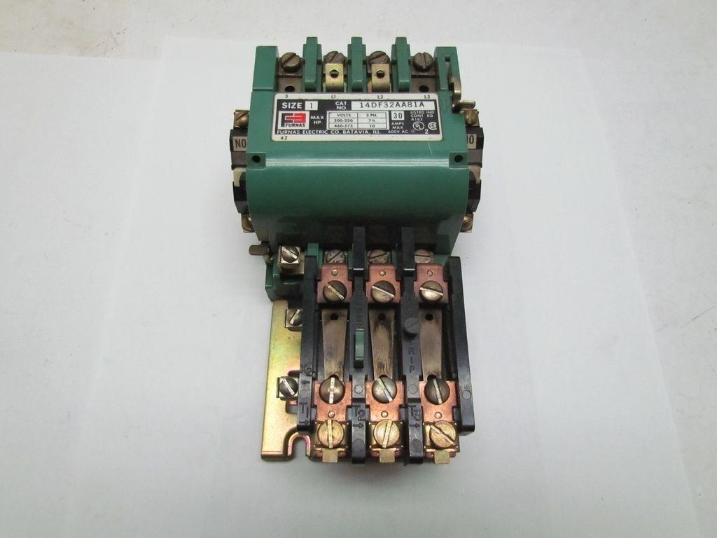 Furnas 14df32aa81a size 1 motor starter 30a 600v 120v coil Furnas motor starter