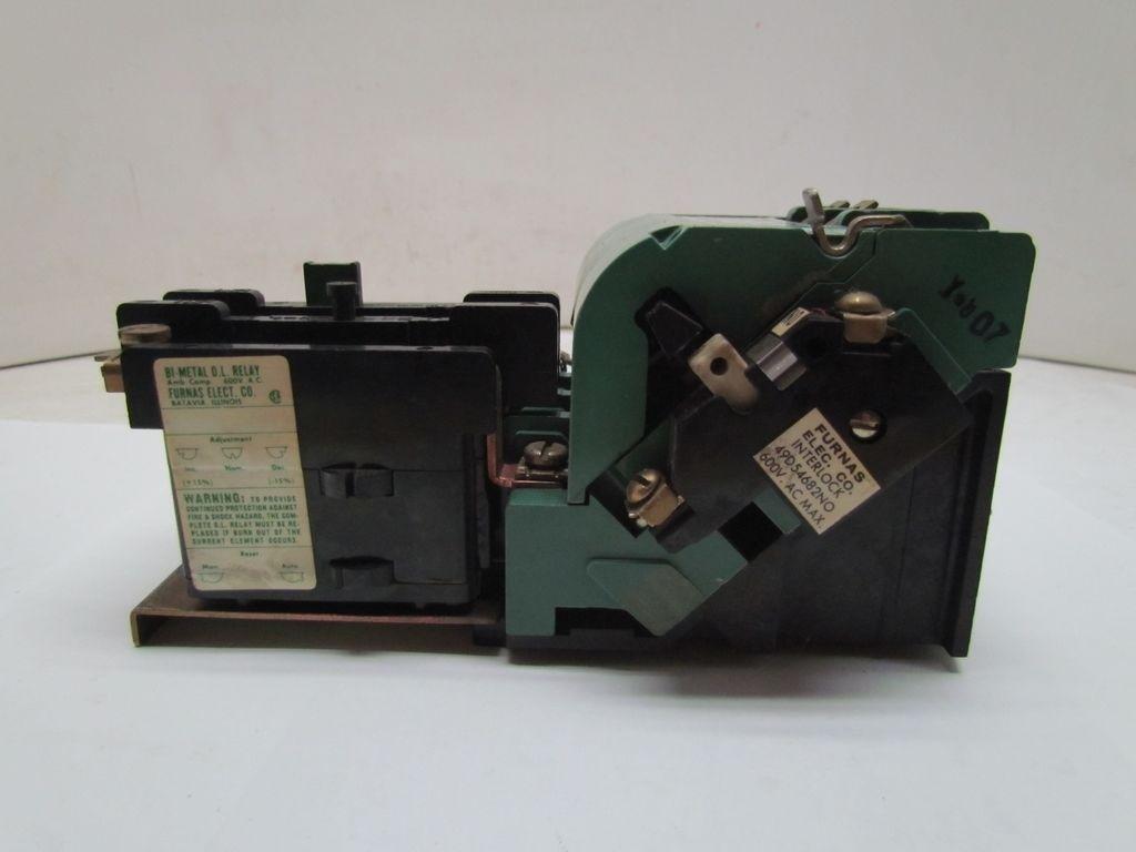 Furnas 14df32aa81a Size 1 Motor Starter 30a 600v 120v Coil Ebay