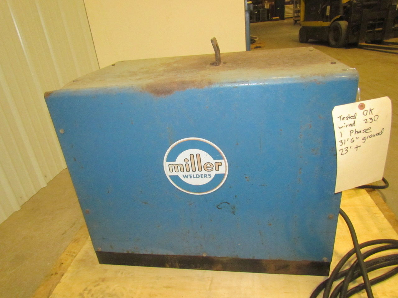 Miller Welders For Sale >> Miller M-295 AC Arc Welder With Leads 295 Amp 1ph Single ...