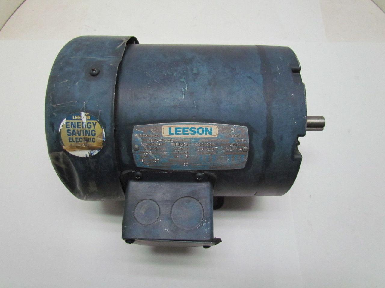 Leeson c6t34fb2c 3 4hp 3450rpm 3ph tefc c56 for 9 hp electric motor
