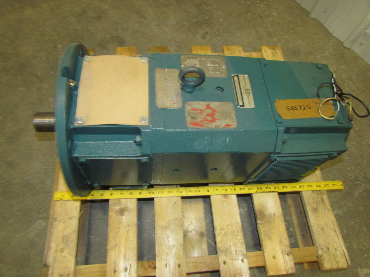Reliance electric sc2113atdz 25hp motor w tgf 2100 00a dc for 25 hp dc electric motor