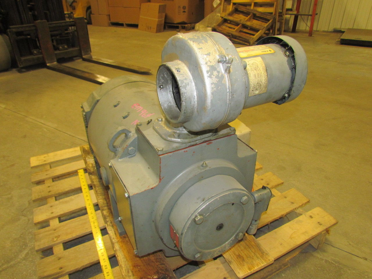 Ge general electric cd327at 20hp dc spindle motor w ac for Tachometer for electric motor
