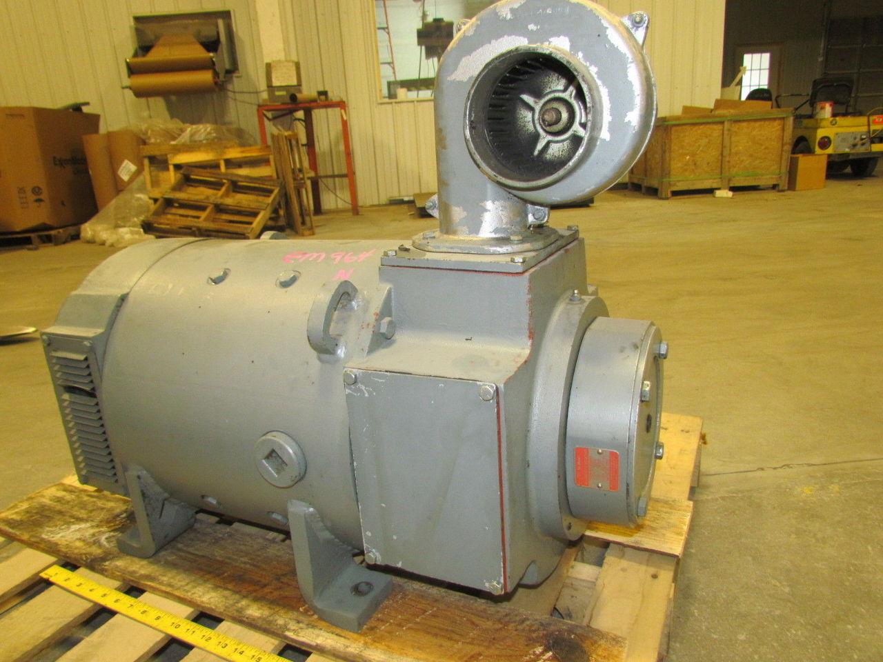 Ge general electric cd327at 20hp dc spindle motor w ac for Dc generators and motors