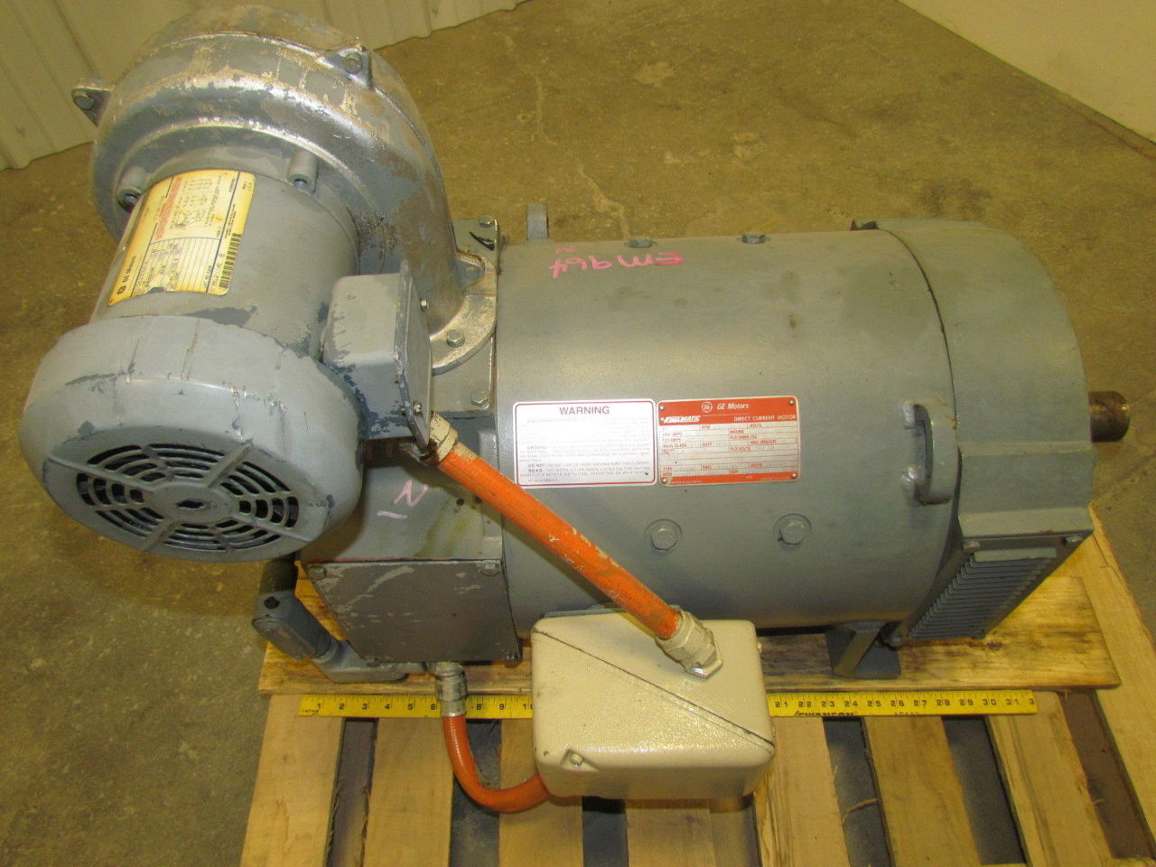 Ge General Electric Cd327at 20hp Dc Spindle Motor W Ac