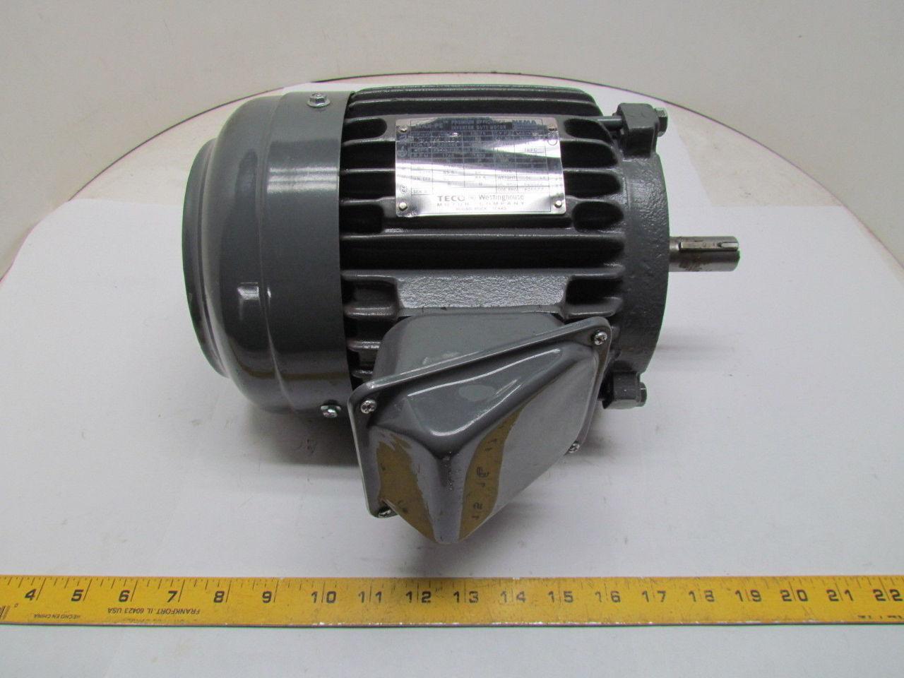 teco westinghouse aehh8p 1hp prem eff invertor duty motor