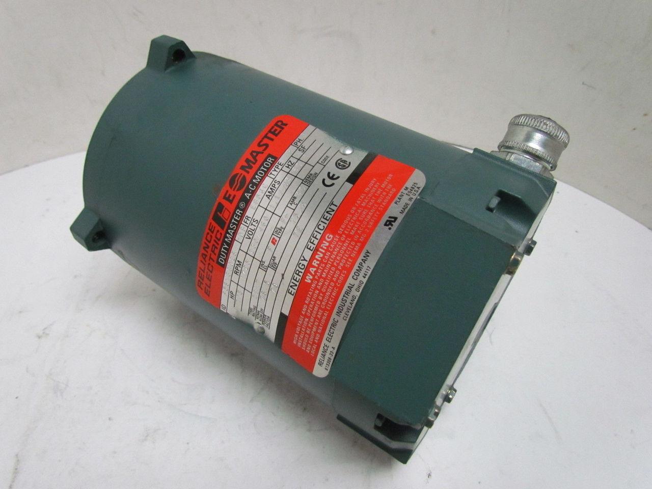 Reliance Duty E A C Electric Motor 1 3 Hp 1725rpm 230 460
