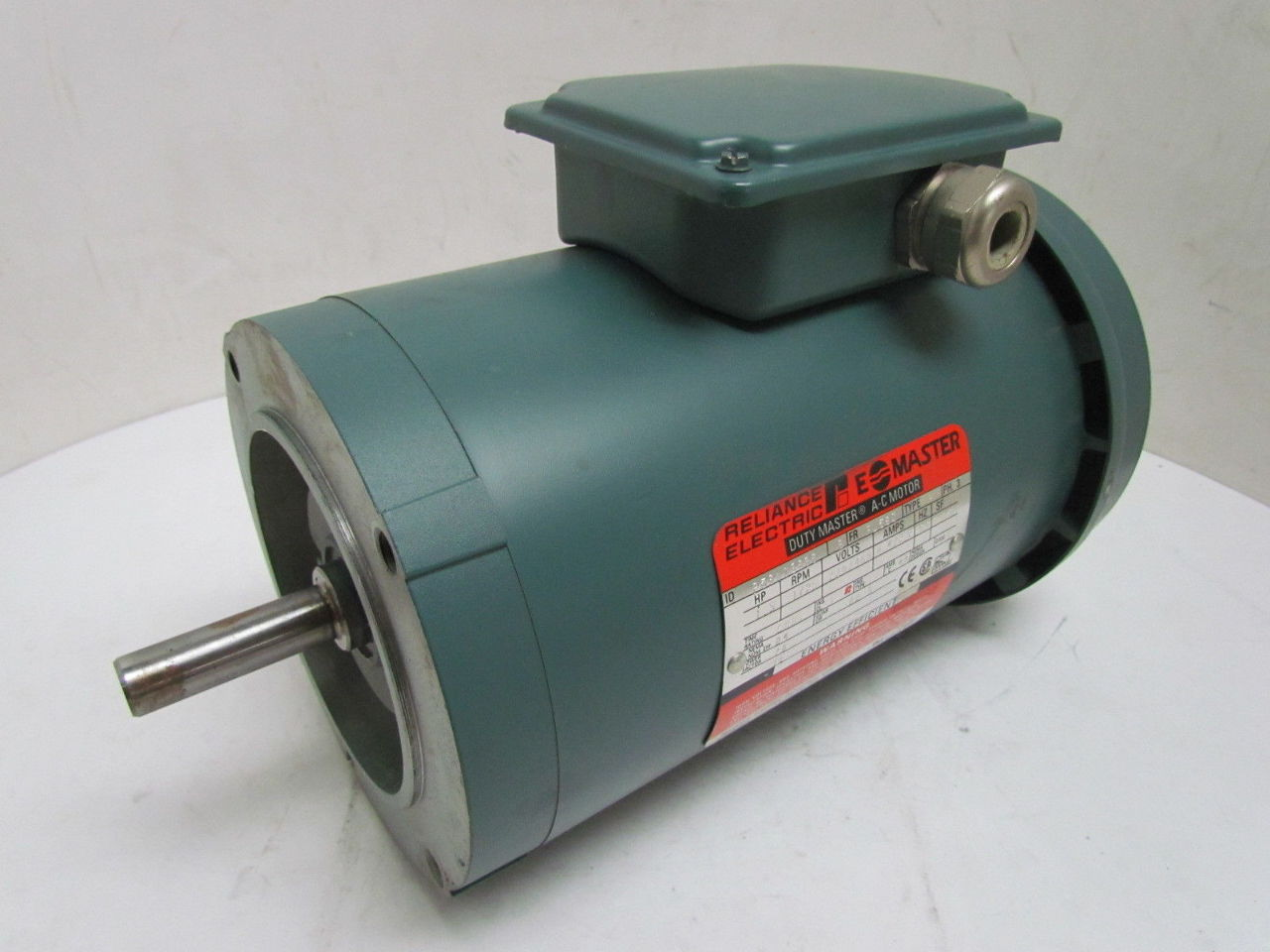 Reliance a c electric motor 1 1 2hp 1725rpm 230 460v 3ph for Reliance dc motor frame size chart