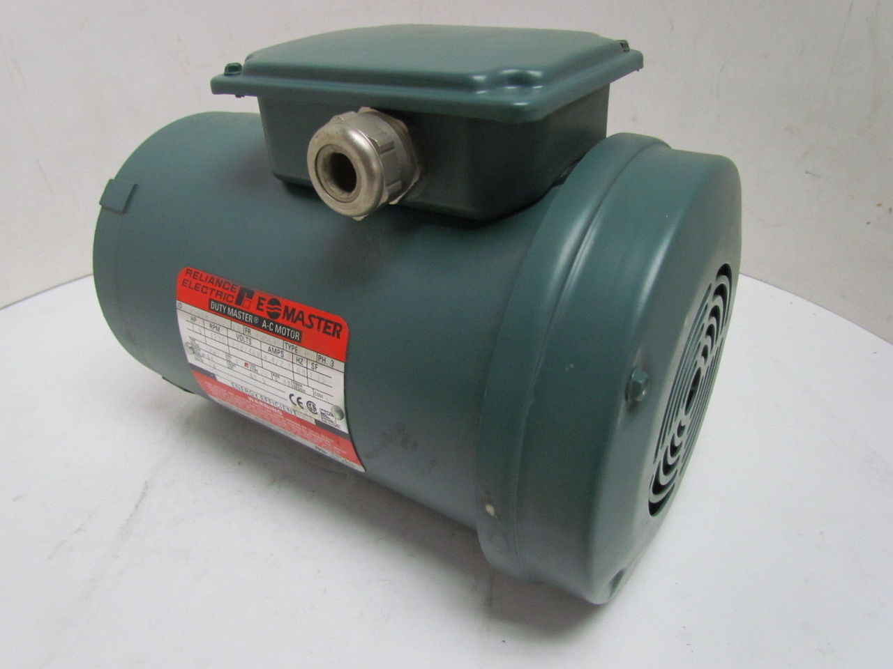 Reliance A C Electric Motor 1 1 2hp 1725rpm 230 460v 3ph