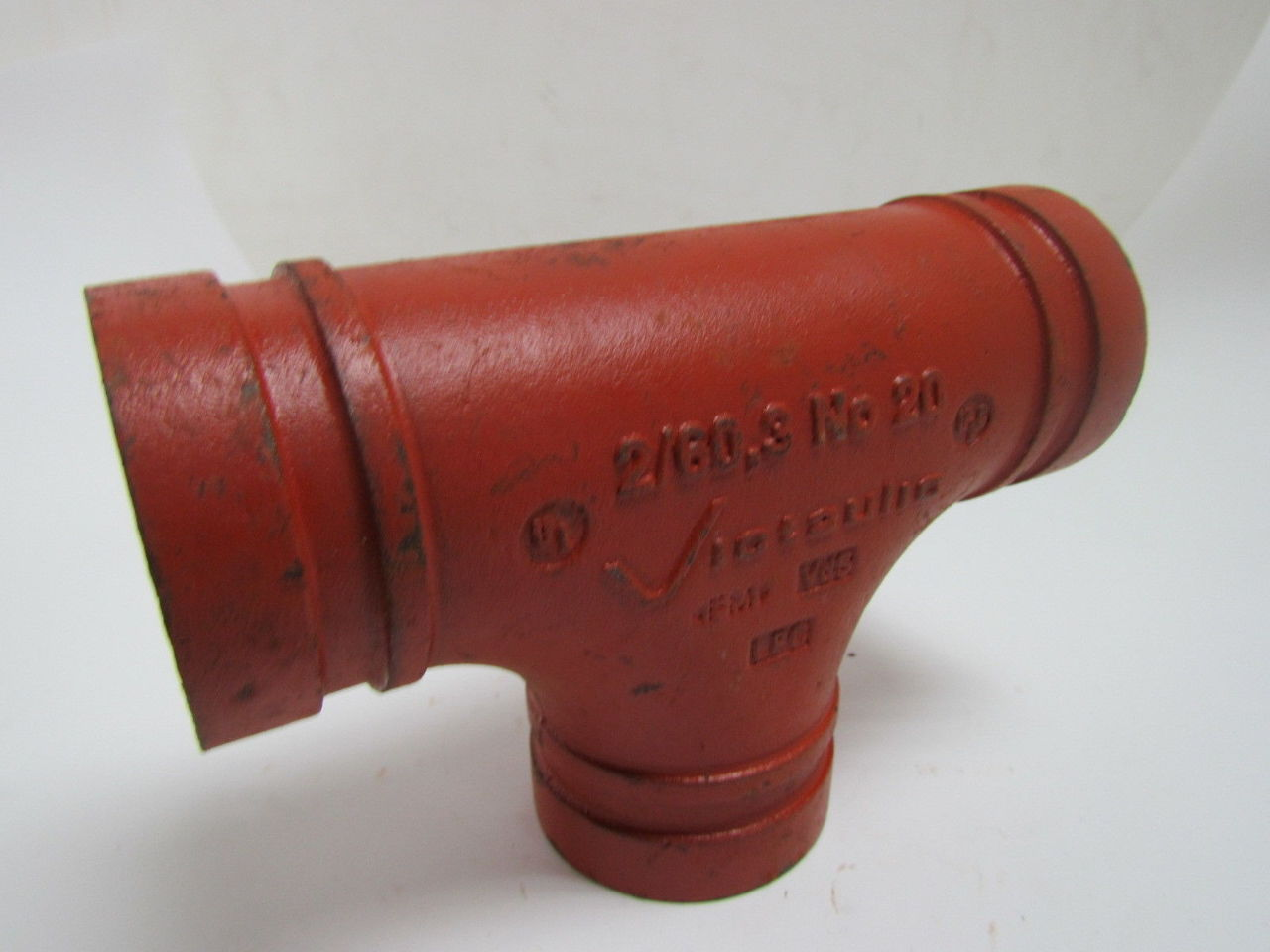 Victaulic no quot grooved end pipe fitting tee mm ebay