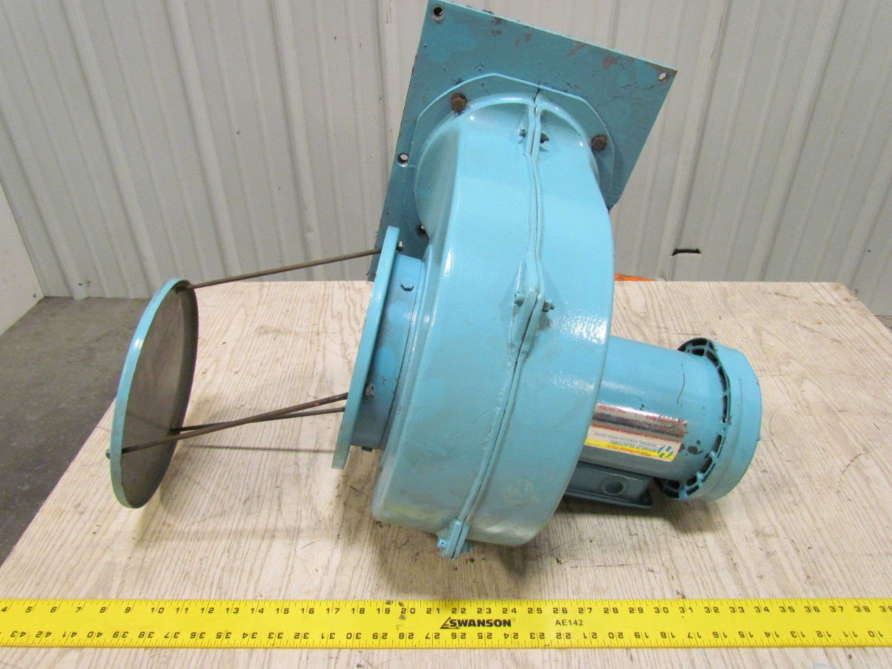 Reliance electric 3 4hp 1725rpm 208 230 460v tefc motor for Squirrel cage fan motor
