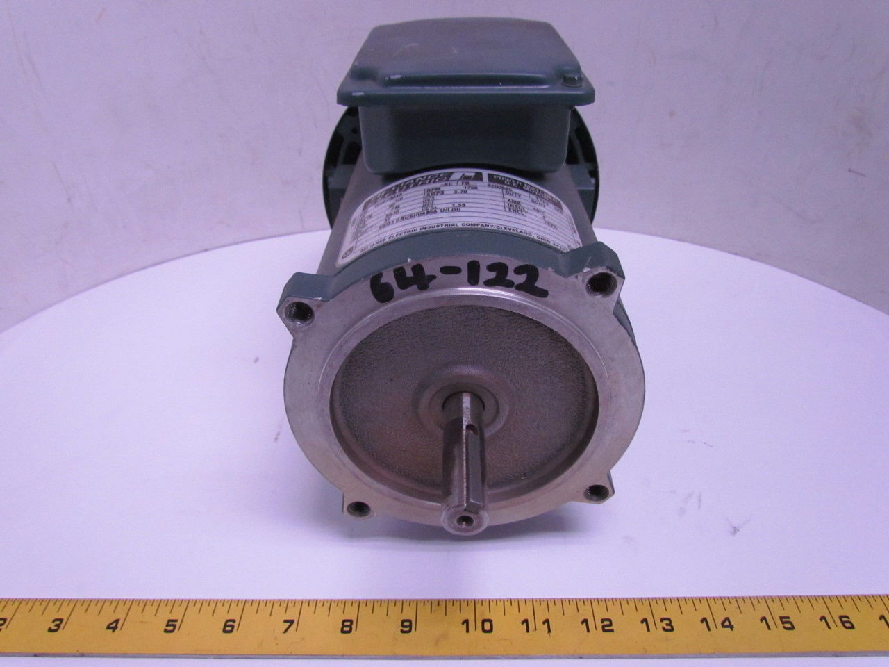 Reliance electric t56s2003a 1 3hp 1750rpm 90v 56c tefc for 56 frame motor shaft size