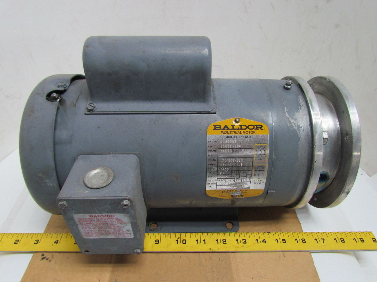 Single Phase Electricity : Baldor hp single phase rpm tc frame tefc