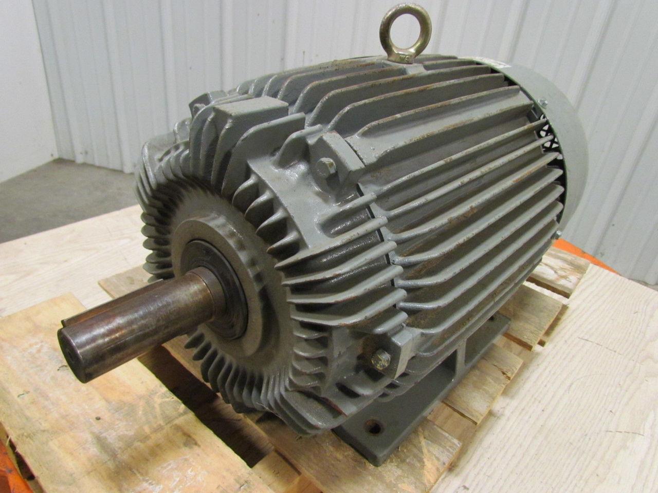General electric 5ke256bc205c 20hp 1755 rpm 256t frame 230 for 56 frame motor shaft size