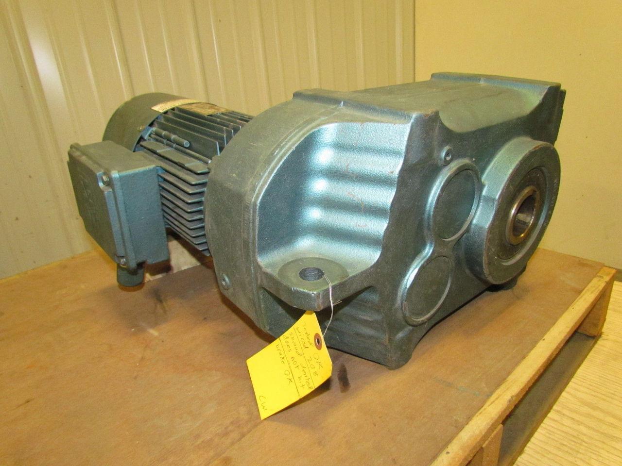 Sew eurodrive ratio gear motor 20rpm 3hp 3ph tefc for Hollow shaft gear motor
