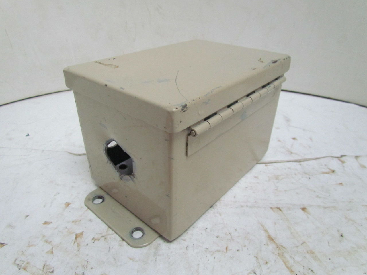 Hinged Electrical Box : Hoffman quot cut out box electrical enclosure hinged
