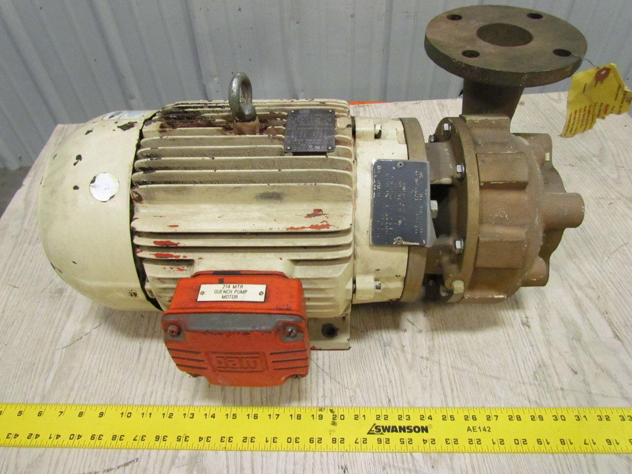 Scot Pump Model 54fb 10 Hp 3500 Rpm Centrifugal