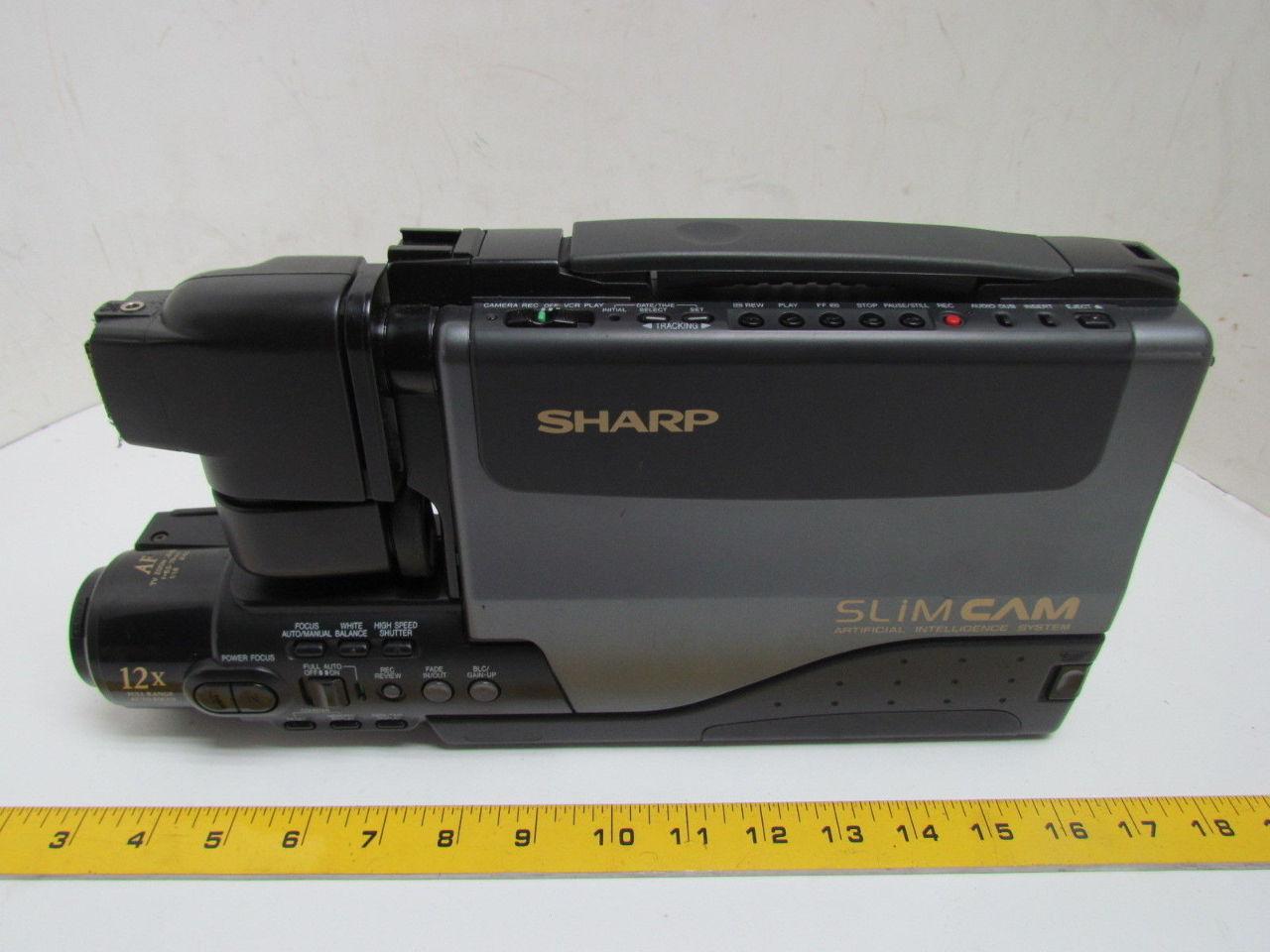 Sharp Vl L50u Slim Cam Vhs Camcorder 12x 6v Battery And