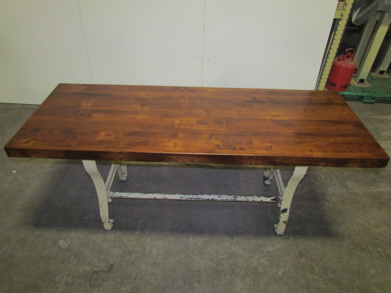 "Vintage Antique Industrial 3"" Butcher Block Dining Kitchen"