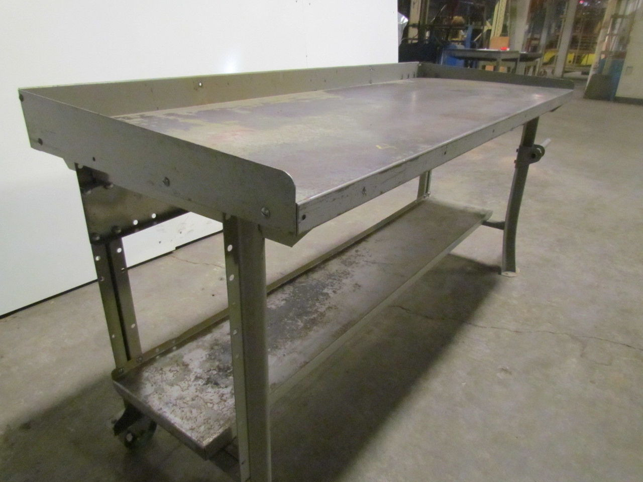 Lyon 6 39 Portable Steel Workbench Industrial Factory Worktable Roll Around Ebay
