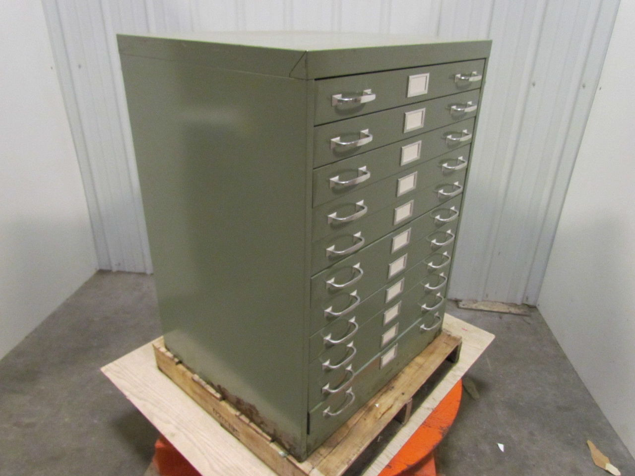 Cole 11 Drawer Steel Flat File Blueprint Cabinet Green 40 ...