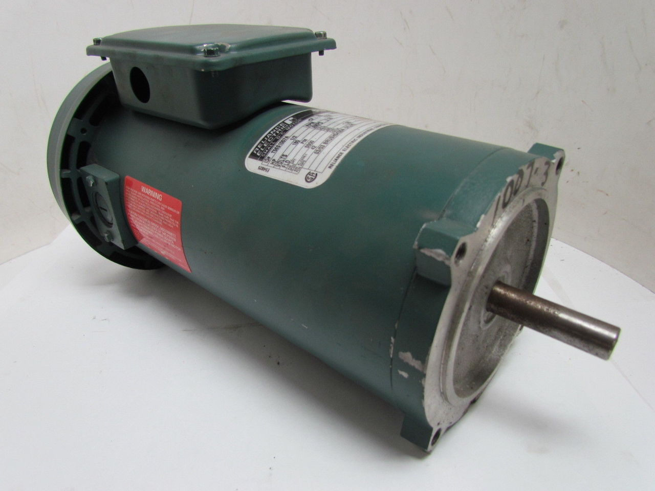 Reliance electric 1 2hp 1750rpm 180v 56c frame tefc for 56c frame motor dimensions