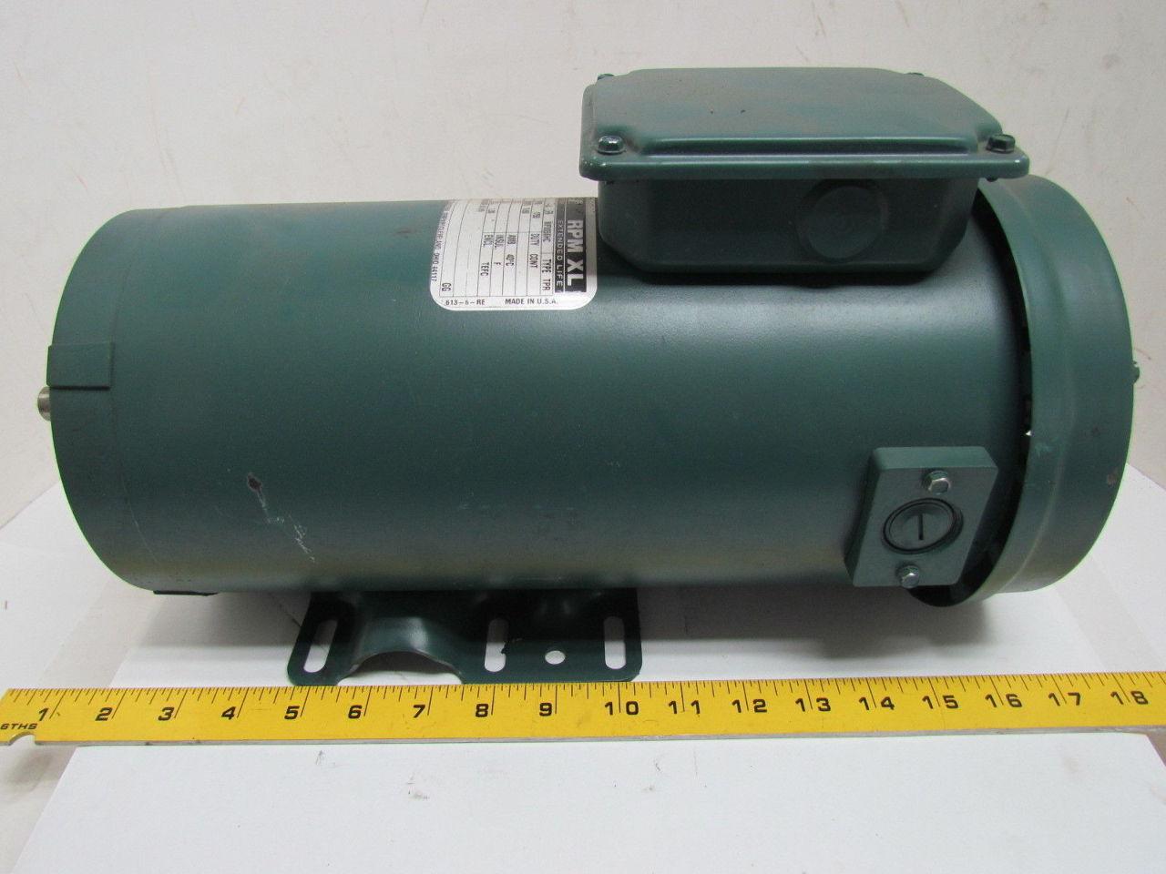 Reliance Electric 1 Hp 1750 Rpm 180v 56 Frame Tefc