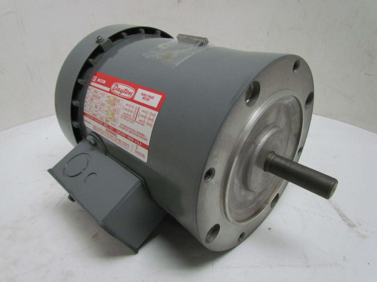 Dayton 2n915g 1 3 hp 1725 rpm 208 220 440 volt 56c frame for 1 hp electric motor 1725 rpm