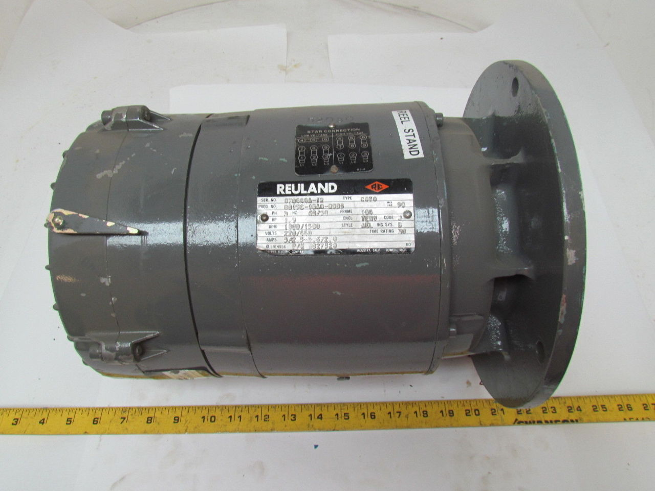 Reuland type c0t0 1 5 hp electric motor 220 440v magnetic for 50 hp electric motor price