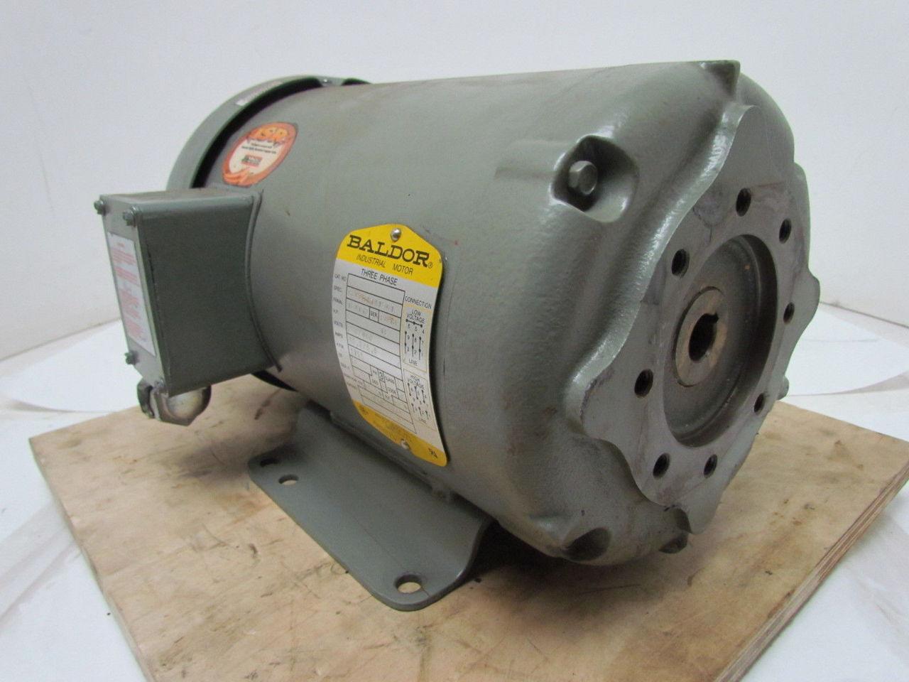Baldor F898 5 Hp 260 460v 1725 Rpm 3 Ph Electric Motor