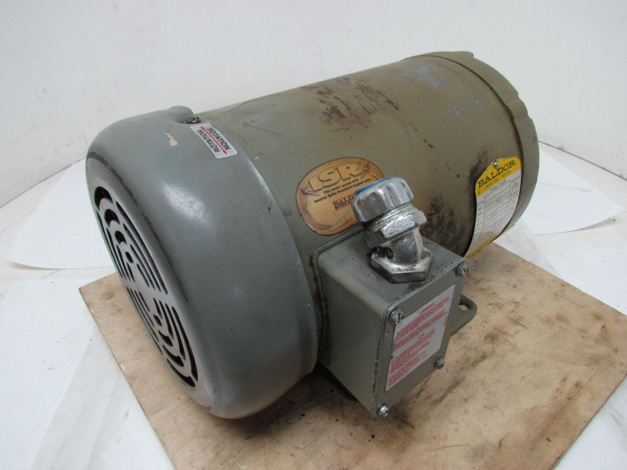 Baldor f898 5 hp 230 460v 1725 rpm 3 ph electric motor for 5 hp tefc motor