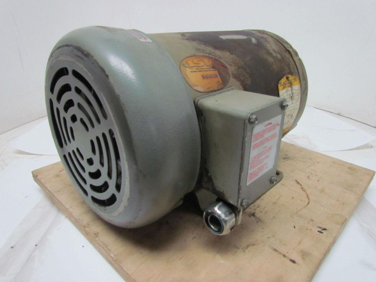 Baldor F898 5 Hp 230 460v 1725 Rpm 3 Ph Electric Motor
