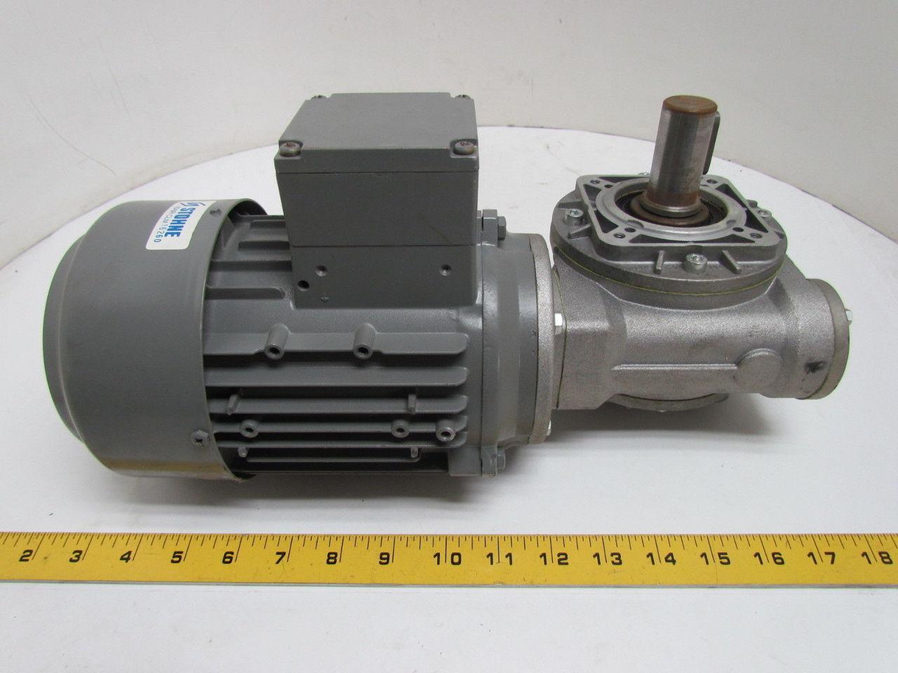 Johnson Teknik A S 43kw 58hp 230 400 460v Electric Motor W 10 1 Stm Gearbox Ebay