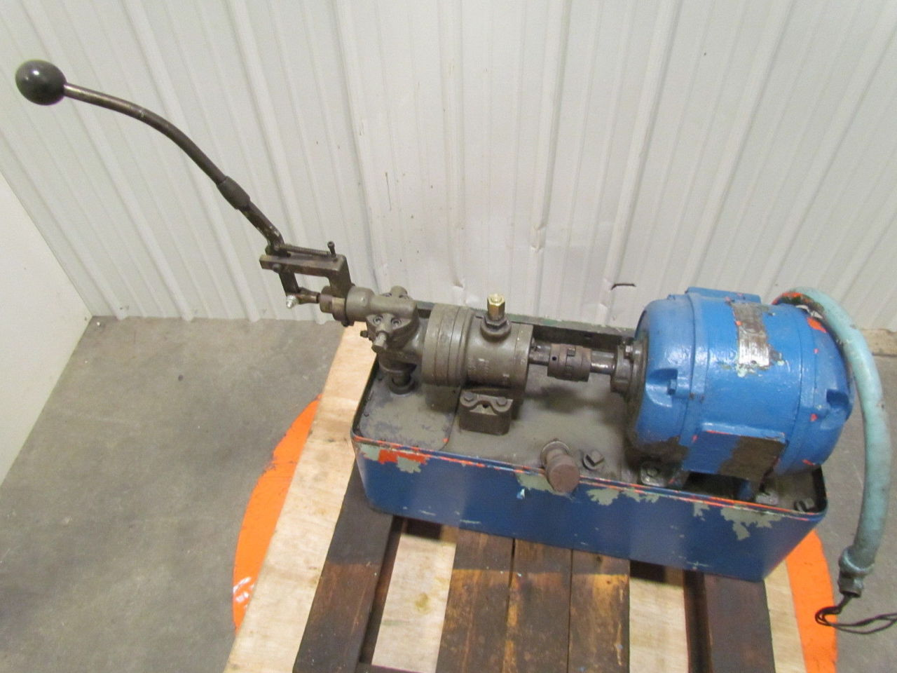 Westinghouse hydraulic power unit 1 hp 220v 3ph motor w for Hydraulic pump motor units