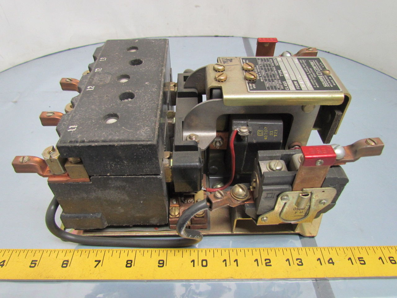 Square d 8536 d0 1 series a motor starter 600vac size 2 for Square d motor starter sizing chart