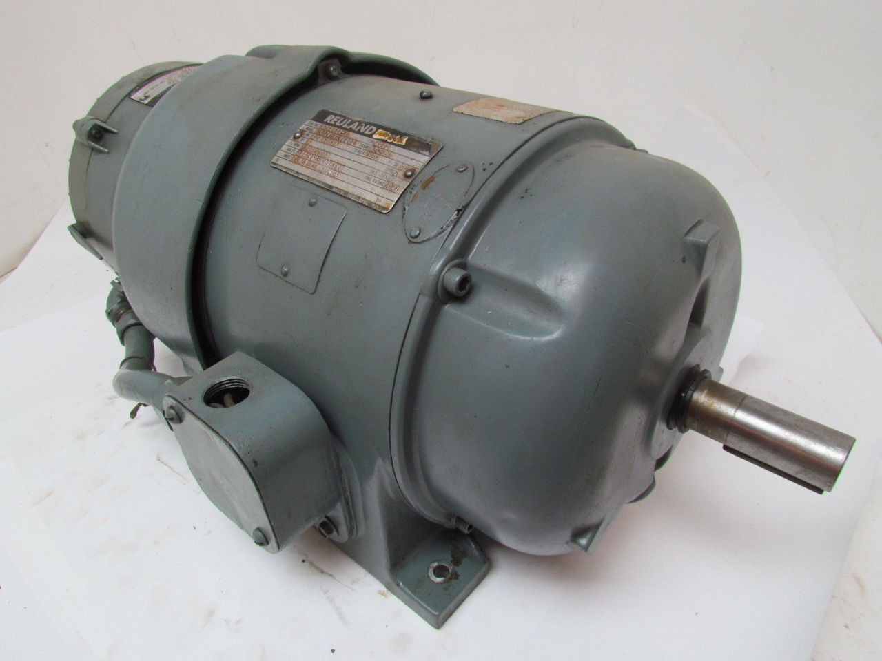 Reuland 3 hp 3 ph 1800 rpm 230 460v tefc electric motor w for 3 hp electric motor