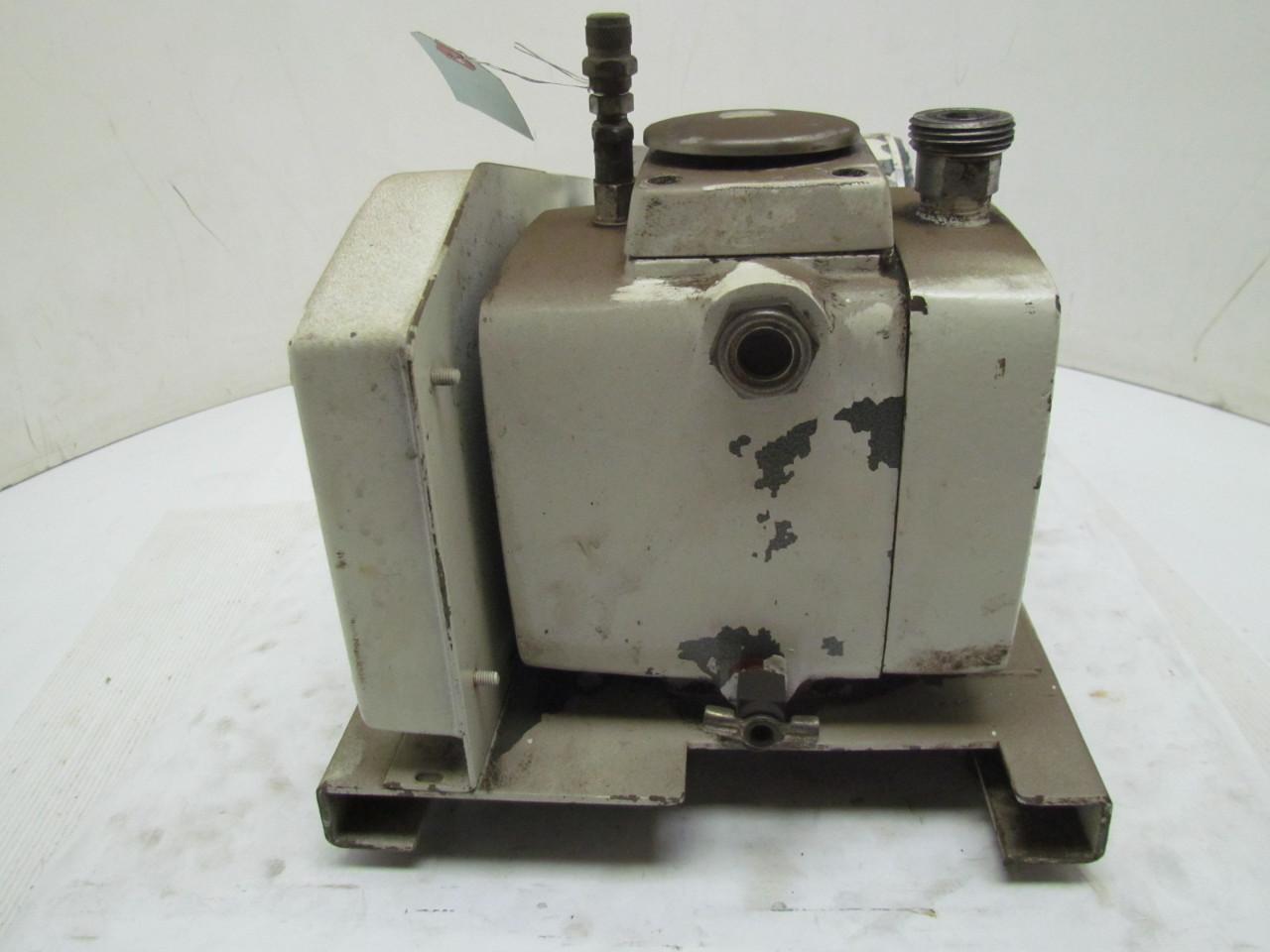 Precision d25 belt driven vacuum pump 1 3 hp motor single for Precision electric motor sales