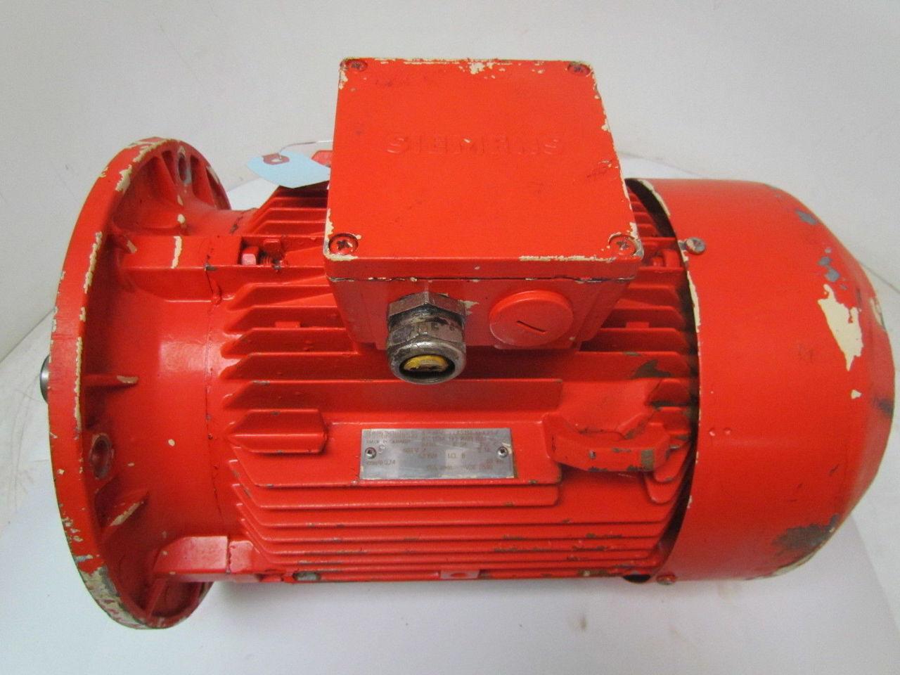 Siemens 1 la5134 6aa91 z 6 3 kw hp 1155 rpm 480v tefc 1 kw electric motor